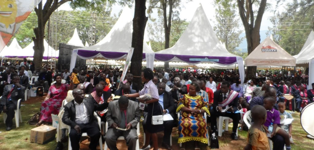 Christians at Consecration of Northwest Ankole Diocese-Ibanda