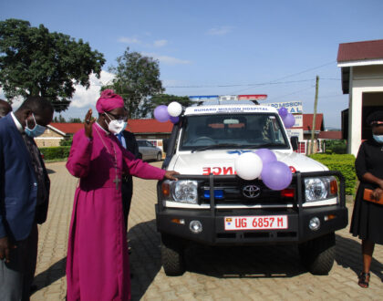 Ruharo Mission Hospital- Ankole Diocese receives a new ambulance